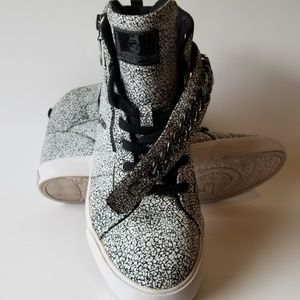G By Guess Black And White Lace Up Sneakers